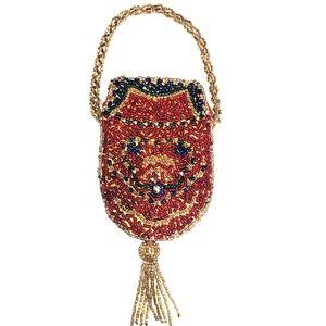 Vintage Beaded Mini bag with tassel bag